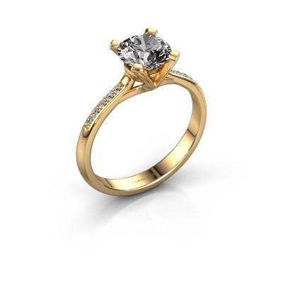Foto van Aanzoeksring Isa 2 375 goud diamant 1.00 crt