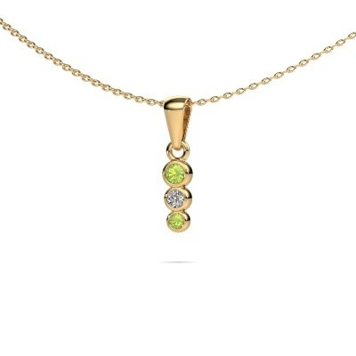 Picture of Pendant Felica 585 gold peridot 2.7 mm