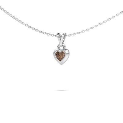 Foto van Hanger Charlotte Heart 375 witgoud bruine diamant 0.25 crt