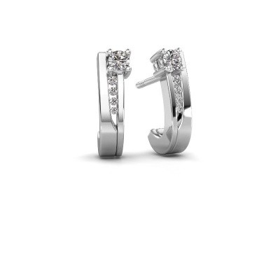 Picture of Earrings Jewell 950 platinum zirconia 2.7 mm