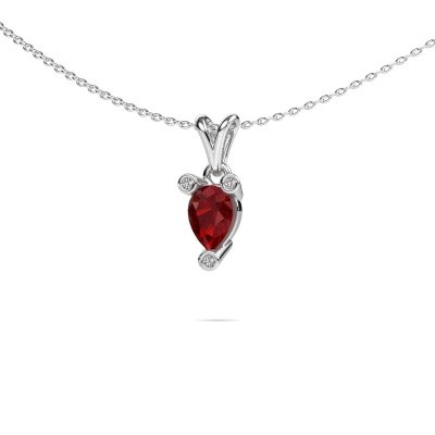 Picture of Necklace Cornelia Pear 585 white gold ruby 7x5 mm
