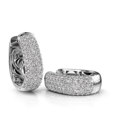 Foto van Creolen Danika 12.5 B 585 witgoud diamant 2.307 crt