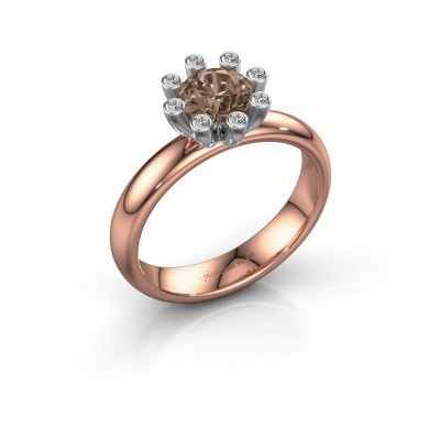 Steckring Carola 3 585 Roségold Braun Diamant 0.84 crt