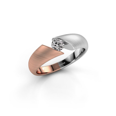 Picture of Engagement ring Hojalien 1 585 rose gold zirconia 4 mm