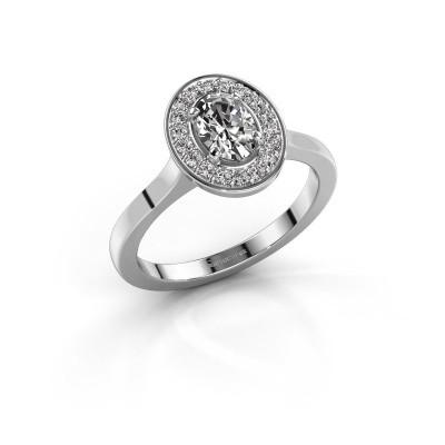 Foto van Ring Madelon 1 950 platina diamant 0.98 crt