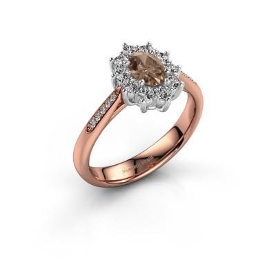 Foto van Verlovingsring Leesa 2 585 rosé goud bruine diamant 0.50 crt