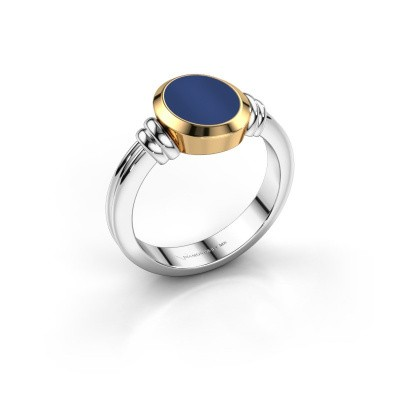 Picture of Signet ring Brenda 1 585 white gold lapis 10x8 mm