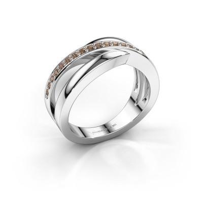 Bild von Ring Colette 925 Silber Braun Diamant 0.20 crt