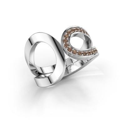 Ring Aniek 585 witgoud bruine diamant 0.21 crt