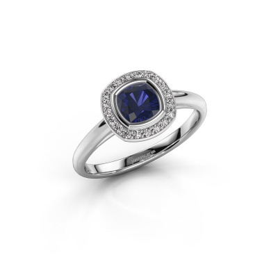 Picture of Engagement ring Noud cus 1 585 white gold sapphire 5 mm