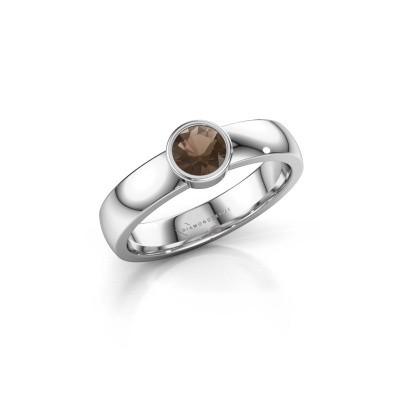 Picture of Ring Ise 1 950 platinum smokey quartz 4.7 mm
