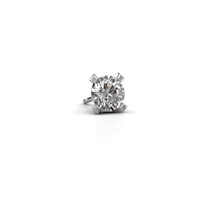 Photo de Boucle d'oreille homme Xaver 585 or blanc diamant 1.00 crt