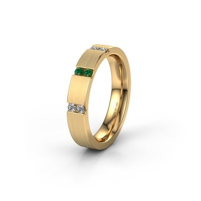 Wedding ring WH2133L14BM 375 gold emerald ±4x2.2 mm