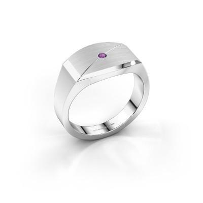 Foto van Heren ring Joe 5 925 zilver amethist 2 mm