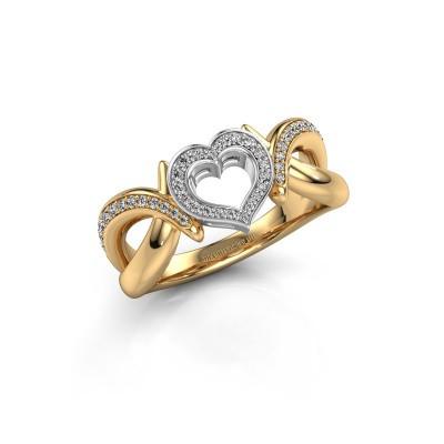 Foto van Ring Earlie 2 585 goud diamant 0.244 crt