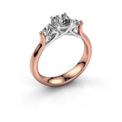 Foto van Verlovingsring Jente 585 rosé goud lab-grown diamant 0.900 crt