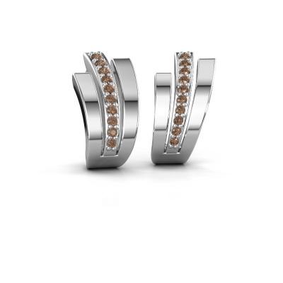 Oorbellen Emeline 925 zilver bruine diamant 0.20 crt