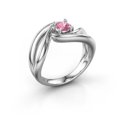 Ring Kyra 925 Silber Pink Saphir 4 mm