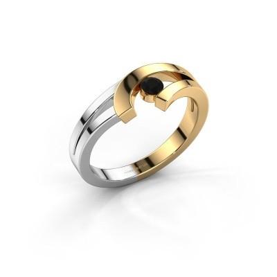 Ring Yentl 585 goud zwarte diamant 0.12 crt