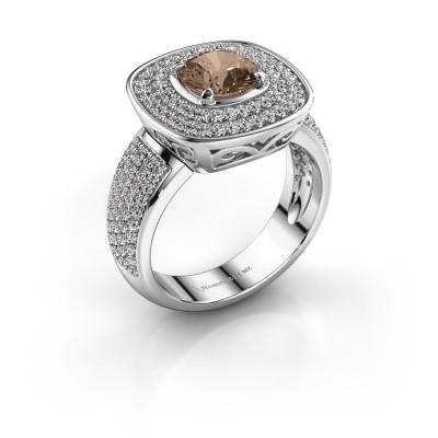 Ring Eliana 585 witgoud bruine diamant 1.54 crt