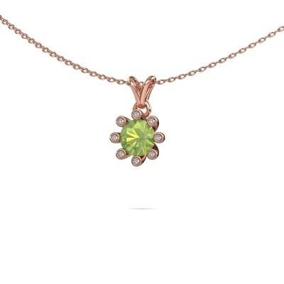 Picture of Pendant Carola 3 375 rose gold peridot 6 mm