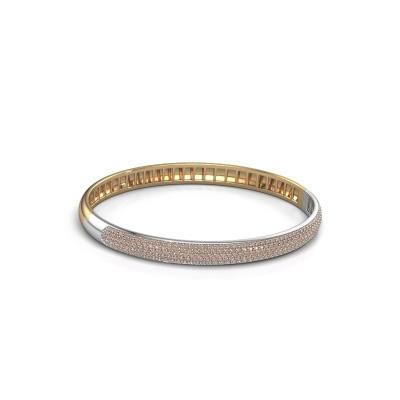 Foto van Armband Emely 6mm 585 goud bruine diamant 2.013 crt
