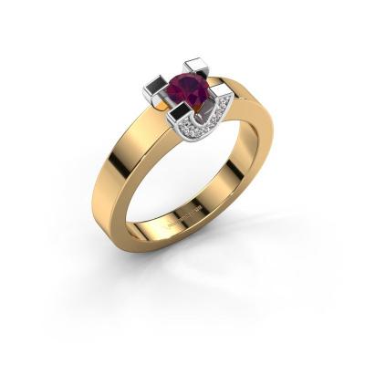 Verlovingsring Jasmijn 1 585 goud rhodoliet 4.2 mm