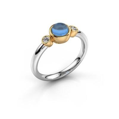 Ring Muriel 585 white gold blue topaz 5 mm