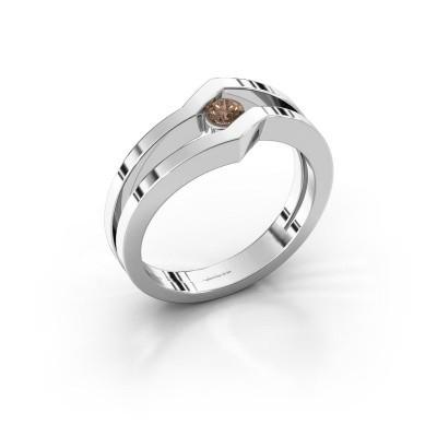 Bague Elize 585 or blanc diamant brun 0.15 crt