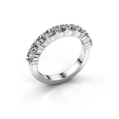 Photo de Bague de fiançailles Yasmin 9 585 or blanc diamant 1.80 crt