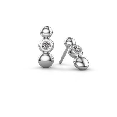 Foto van Oorbellen Lily 925 zilver diamant 0.12 crt