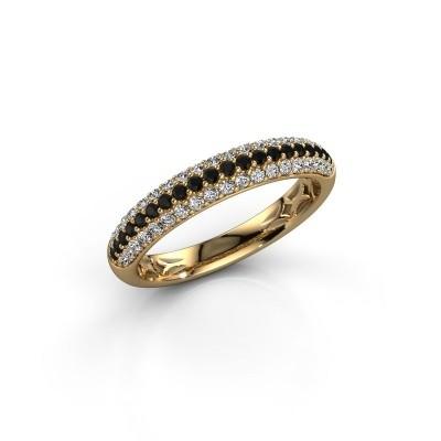 Foto van Ring Emely 2 375 goud zwarte diamant 0.597 crt