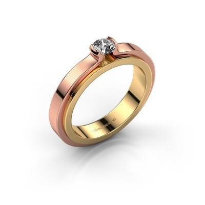 Foto van Verlovingsring Jacinda 585 goud diamant 0.25 crt