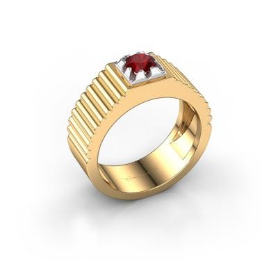 Pink ring Elias 585 goud robijn 5 mm