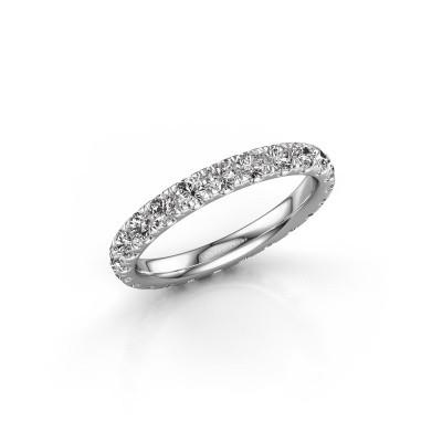 Photo de Bague Jackie 2.5 585 or blanc diamant synthétique 1.38 crt