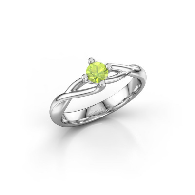 Picture of Engagement ring Paulien 950 platinum peridot 4 mm