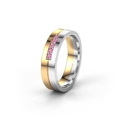 Wedding ring WH0211L15AP 585 gold pink sapphire ±0.20x0.07 in