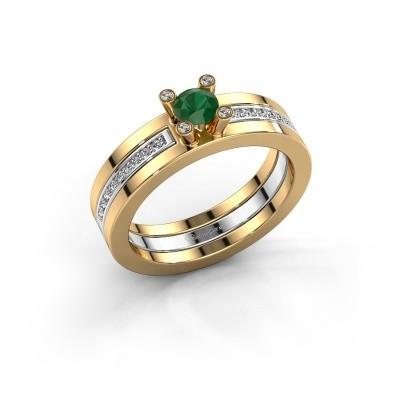 Foto van Ring Alisha 585 goud smaragd 4 mm