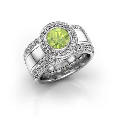 Picture of Ring Roxie 925 silver peridot 6.5 mm
