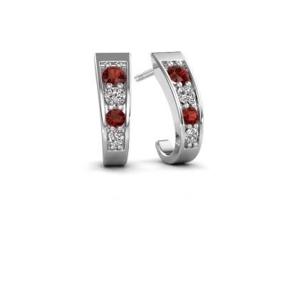Picture of Earrings Glady 925 silver garnet 3 mm