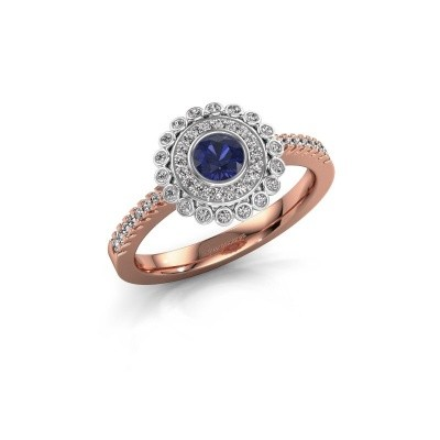 Engagement ring Shanelle 585 rose gold sapphire 4 mm