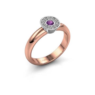 Ring Fiene 585 rose gold amethyst 2.8 mm
