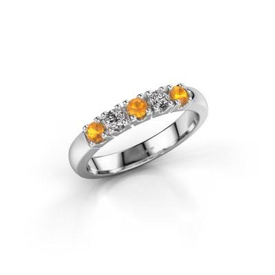 Foto van Ring Rianne 5 585 witgoud citrien 2.7 mm