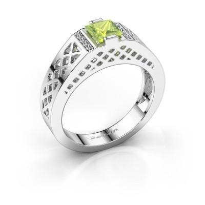 Foto van Heren ring Jonathan 925 zilver peridoot 5 mm