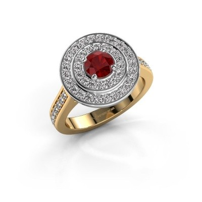 Ring Alecia 2 585 goud robijn 5 mm
