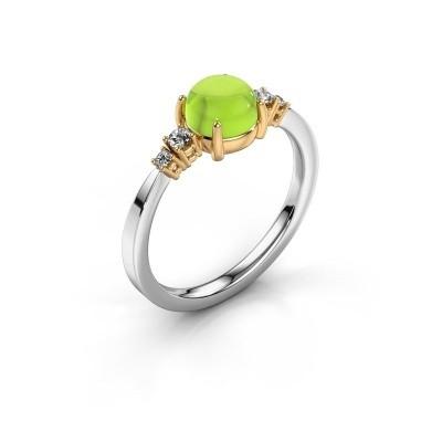 Ring Regine 585 witgoud peridoot 6 mm
