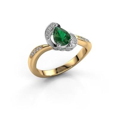 Foto van Ring Jonelle 585 goud smaragd 7x5 mm