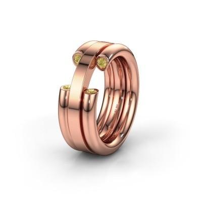 Ehering WH6018L 585 Roségold Gelb Saphir ±8x3 mm