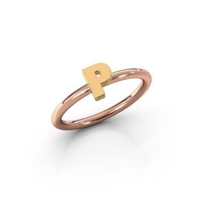 Ring Initial ring 080 585 rose gold