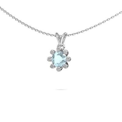 Picture of Pendant Carola 2 950 platinum aquamarine 6 mm
